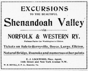 Excursions to the Shenandoah Valley