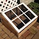 Cold frame made from a Noakes house window sash.